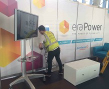 mobile touchscreen for Melbourne exhibition