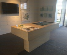 Customize touchscreen table for WP sales showroom