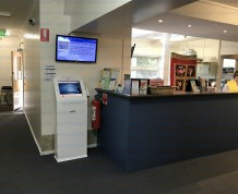 Medical clinic patient check in kiosk