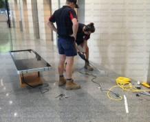 Kiosk floor mount installation